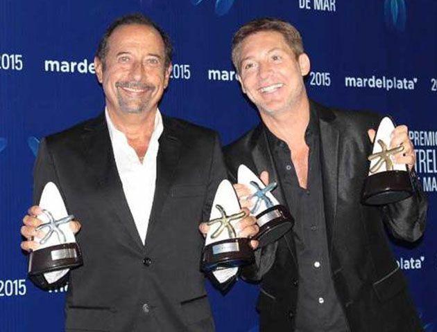 Adrián Suar y Guillermo Francella ganaron el Estrella de Mar de Oro