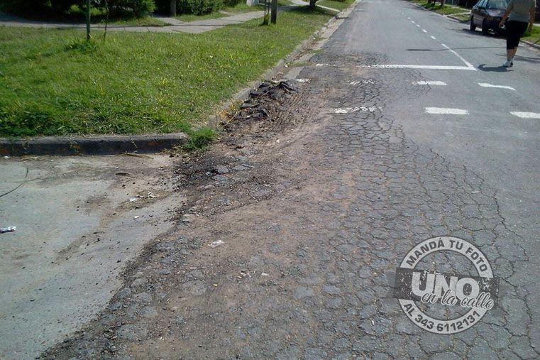 Calle Baez: se realizó la licitación por arreglo total y solo hubo bacheo