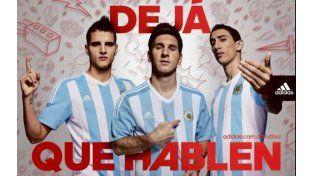 Messi, Di María y Lamela lucieron el nuevo modelo de camiseta para la Copa América