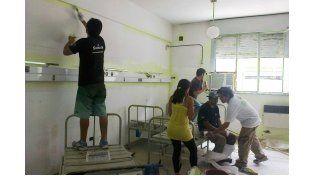 Otras tareas. El grupo también ayuda en hospitales y otras instituciones.