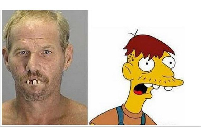 Personas parecidas a los personajes de los Simpsons