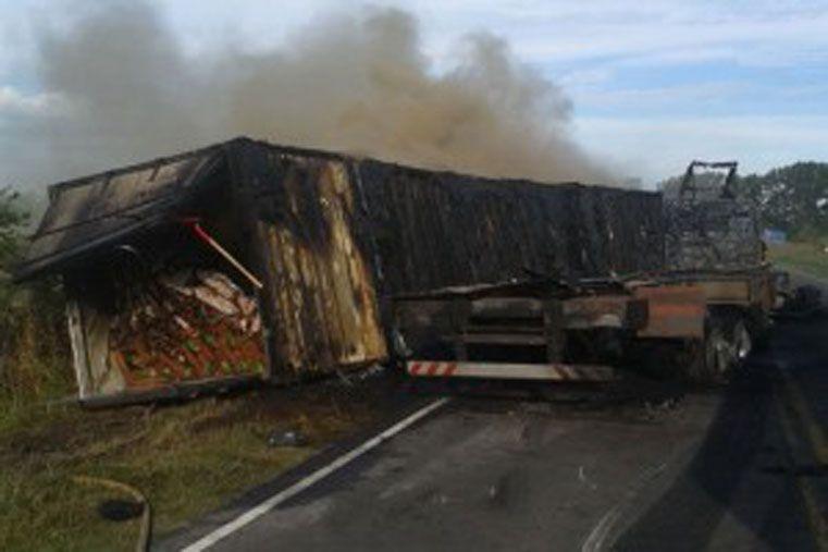 A raíz de lo ocurrido se implementó un operativo a cargo del puesto Gualeguaychú de la Dirección de Prevención y Seguridad Vial (Foto El Día)