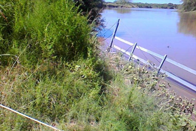 Cuando baje el río, Vialidad arreglará la balsa que une Villa Urquiza con Paraná