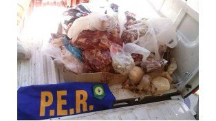 Ilegal. En Estación Yuquerí un almacén vendía carne en forma clandestina.
