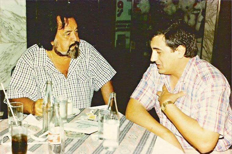 Horacio Guarany junto a José Cáceres