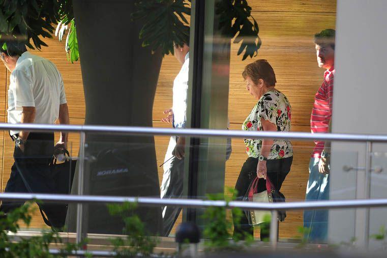 La fiscal del caso en el complejo Le Parc. (Foto: Télam)