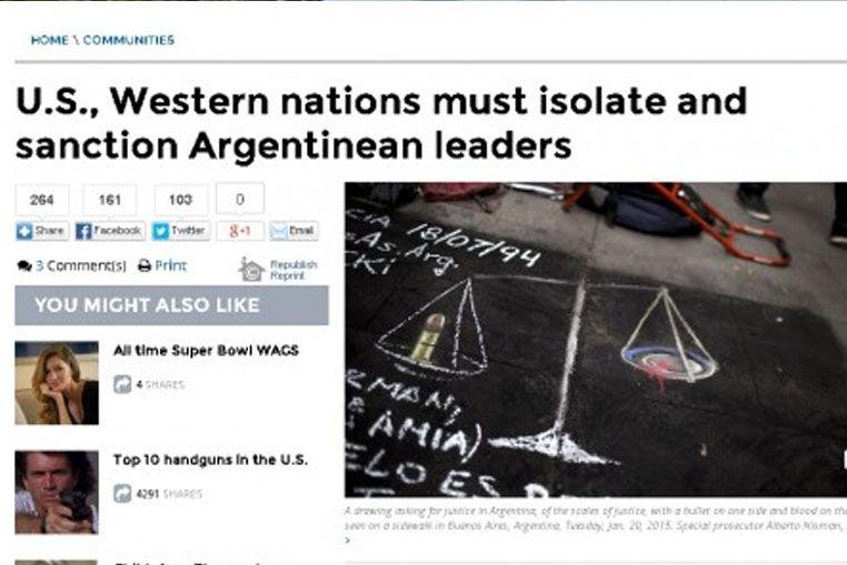 La insólita nota de un diario estadounidense sobre el caso Nisman