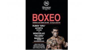 El afiche . Yas se puede ver en portales de internet el afiche de la pelea del paranaense ante el actual campeón de los Súper Medianos.