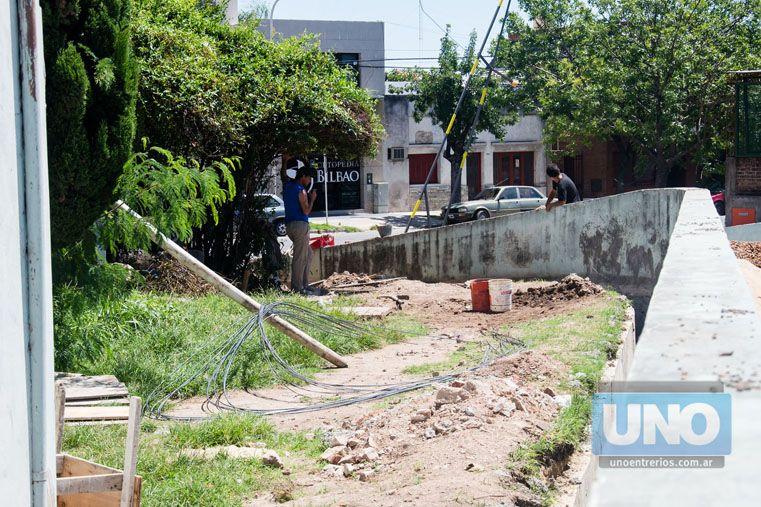 Arreglos de desagües pluviales. Ya se iniciaron las obras para revertir un problema de larga data. Foto UNO/Mateo Oviedo