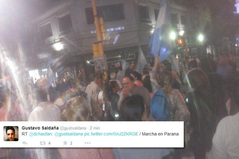 Manifestaciones en Entre Ríos tras la muerte de Nisman