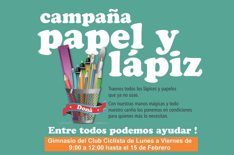 El gimnasio del Club Ciclista recibe donaciones de lápices y papeles