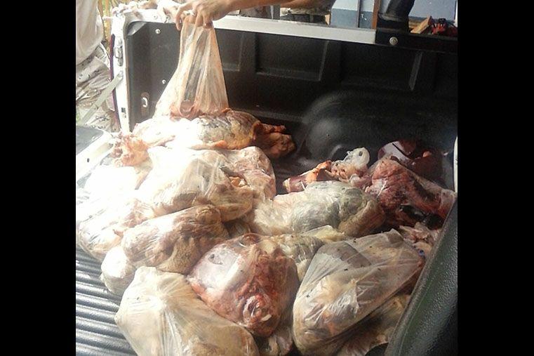 Decomisaron 120 kg de carne vacuna en mal estado