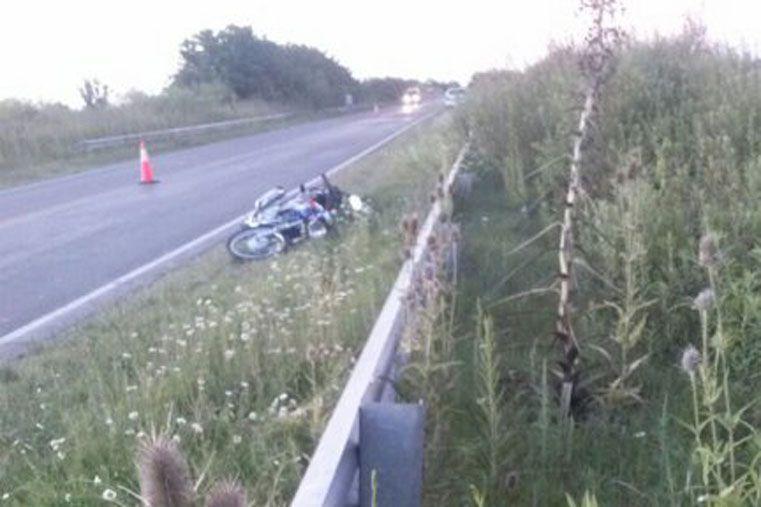 Falleció el conductor que se cayó de la moto en la ruta 20