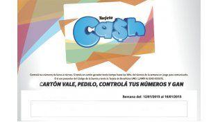 Estos son los números de la tarjeta CASH de esta semana