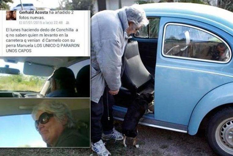 Pepe Mujica lo hace de nuevo: ahora levantó a un ciudadano que hacía dedo