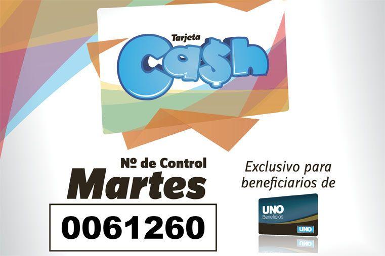Los números de la tarjeta Cash del 12 al 16 de enero