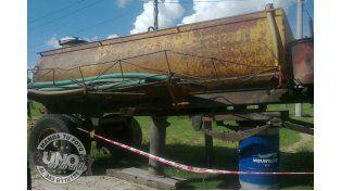 Camión atmosférico de Villa Seguí en mal estado