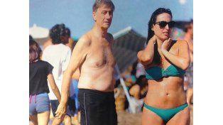 Hermes Binner en Mar del Plata junto a su novia de 36 años