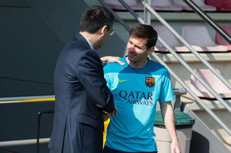 Bartomeu aclaró que no hay debate sobre el futuro de Messi