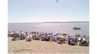 LA MÁS LINDA. Es una de las playas más atractivas del río Paraná con 500 metros de espacio.