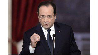 Belicoso. El presidente francés justificó la acción militar en Irak.