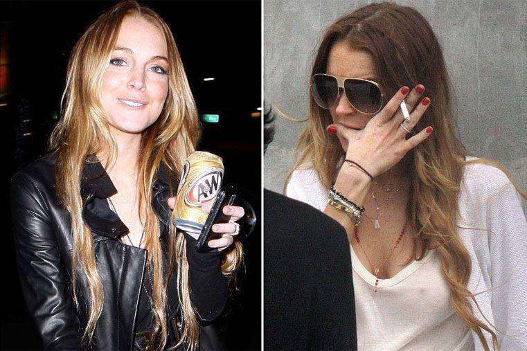 Lindsay Lohan (28): A pesar de que su carrera profesional empezó cuando sólo tenía 3 años