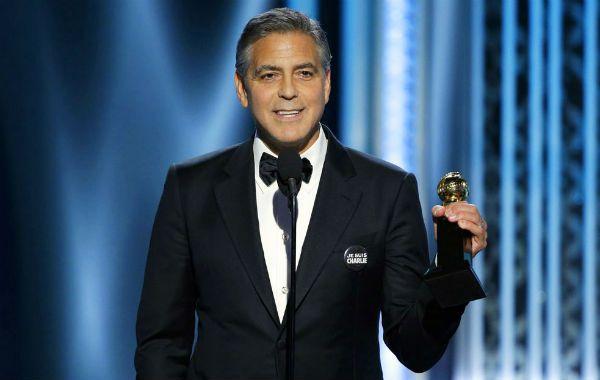 George Clooney le regaló una emotiva declaración de amor a su esposa y recordó a Charlie Hebdo