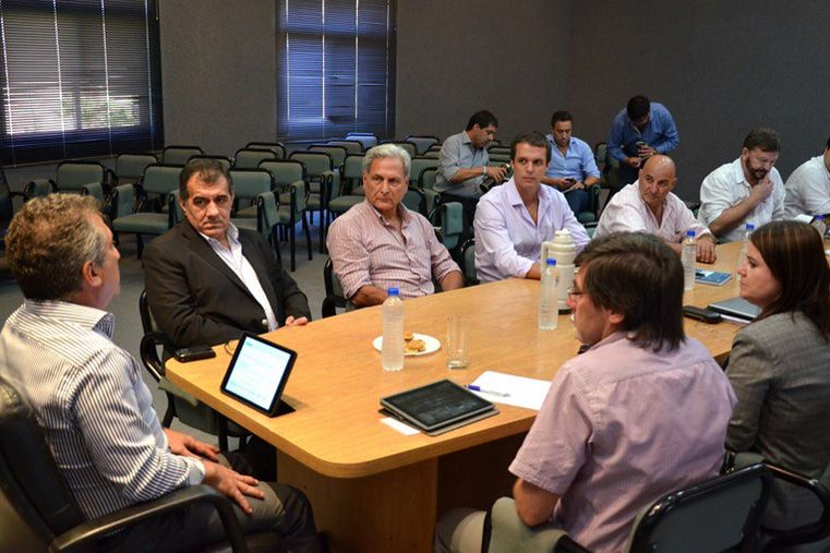 La primera reunión de Gabinete del año se realizó esta mañana en Concordia.  Foto: DGIP