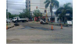 Continúan los arreglos en calle Churruarín