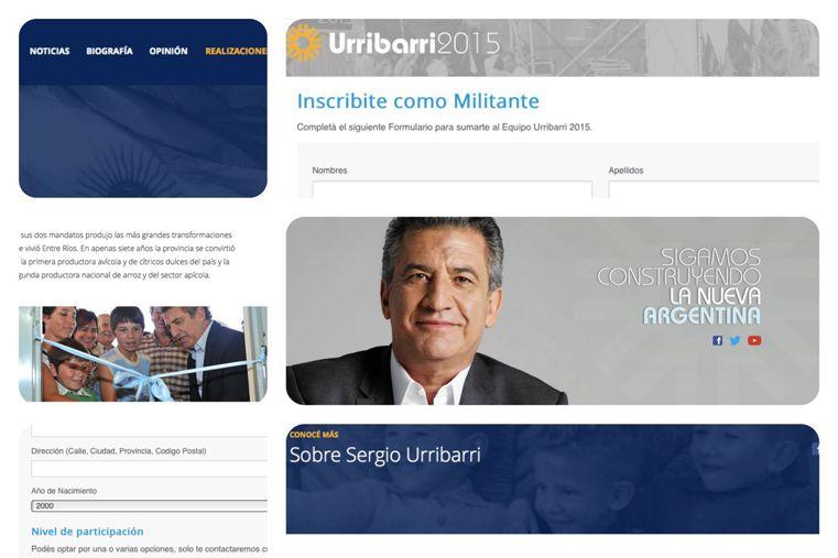 Imagen. La página presenta los nuevos criterios gráficos de la campaña.