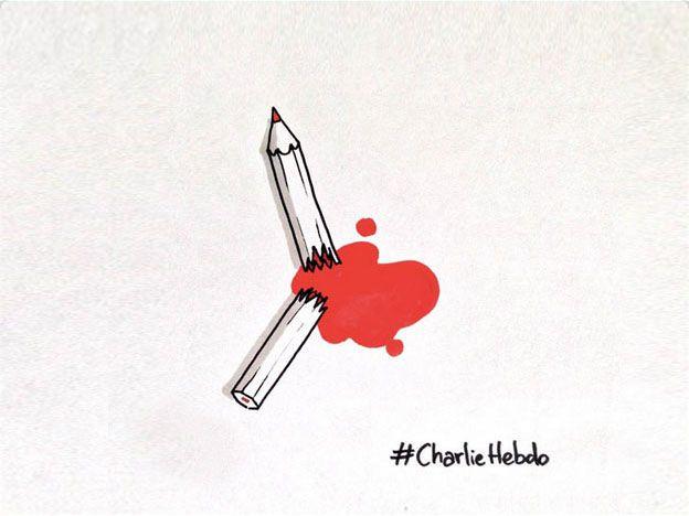 Caricaturistas de todo el mundo repudiaron la masacre en el semanario parisino
