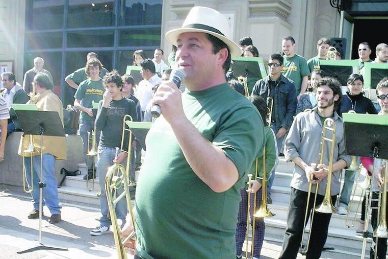 EL DIRECTOR. Rubén Carughi es el creador y director del ensamble Trombonanza.