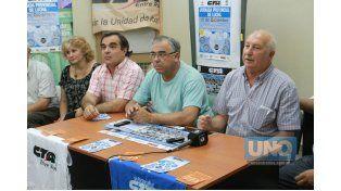 Unidos. La directiva dijo que respetarán el mandato de los gremios de base. Foto UNO/Juan Ignacio Pereira