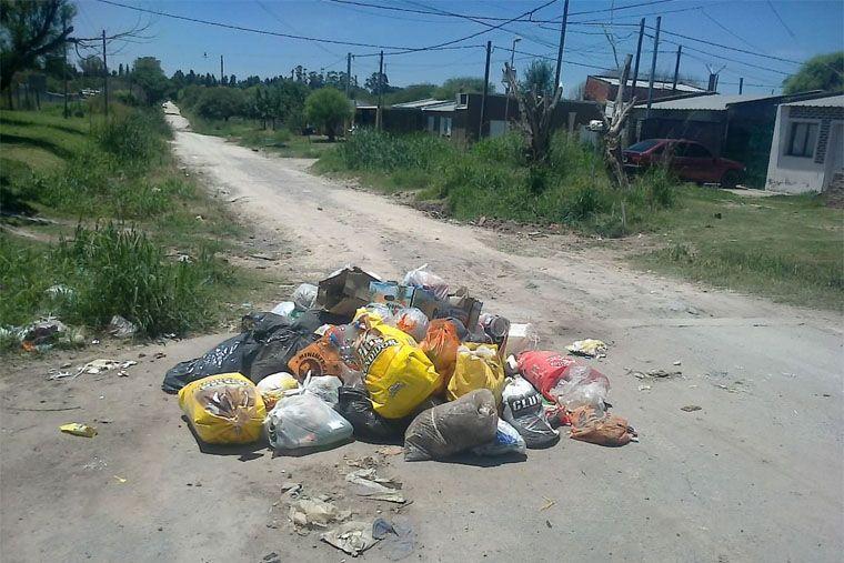 El recolector de residuos no pasa por calle Mihura y Cavallo