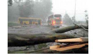 Desastre. En provincia todavía persisten las secuelas del temporal.