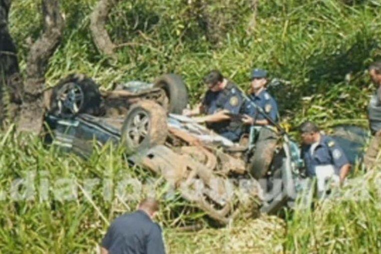 """Las personas sufrieron fracturas en zonas vitales que les provocaron las muertes """"de manera instantánea"""". (Foto diario Río Uruguay)"""