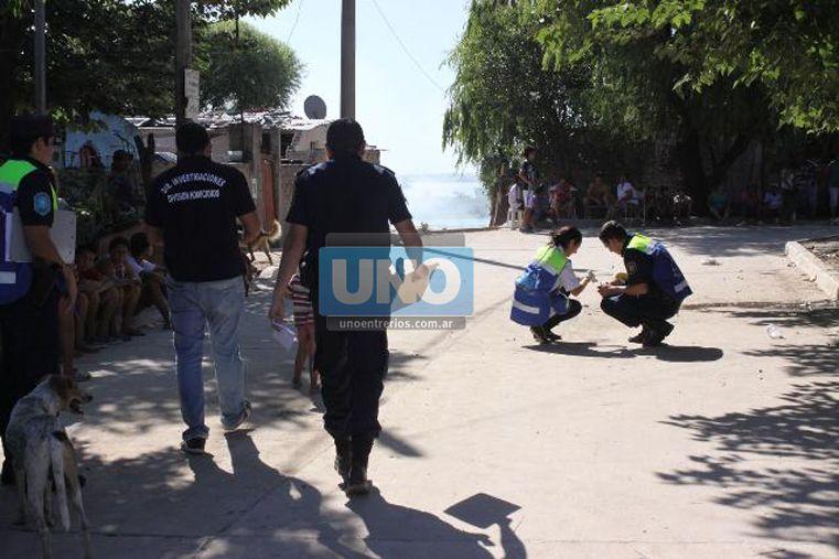 Homicidio en el barrio Antártida Argentina. Foto: UNO/Juan Ignacio Pereira