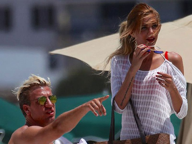 Maxi López presentó a su novia sueca