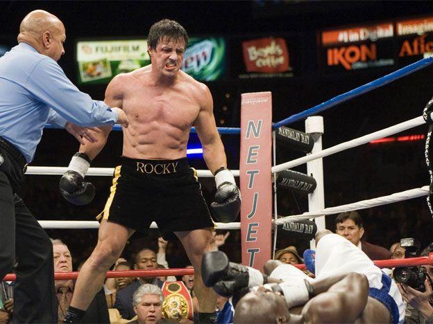 Imperdible Rocky Balboa Le Da Una Charla Motivacional A