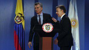 Junto a su par colombiano, Macri se refirió al caso López: Es un escándalo