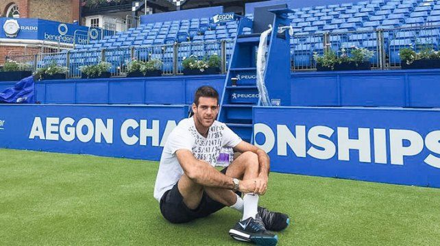 Del Potro debutará ante Isner en el Torneo de Londres
