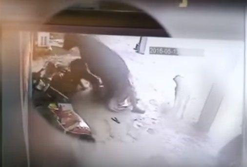 Una vaca embiste a un hombre que intenta abusar de una mujer