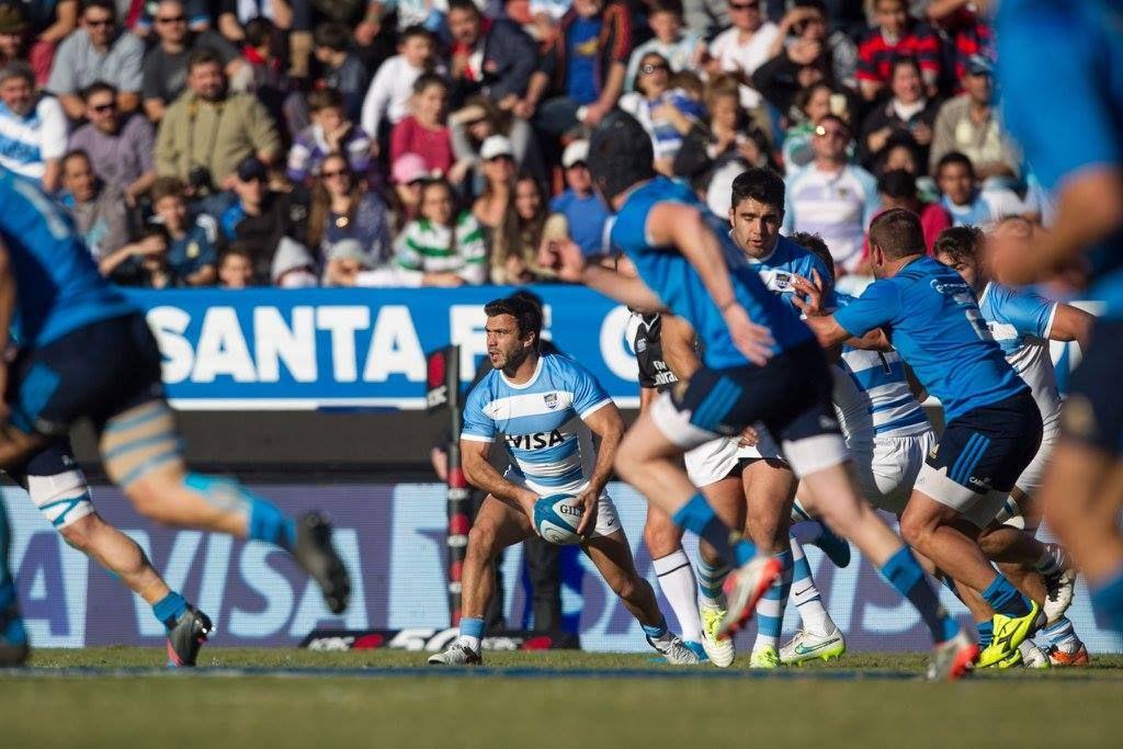 Más allá de la presión italiana Los Pumas ganaron el primer partido de la temporada. Foto UAR/Gaspafotos/Juan Gasparini.