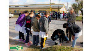 En Viale hora antes del choque concientizaron sobre la Seguridad Vial. Foto Municipalidad de Viale.