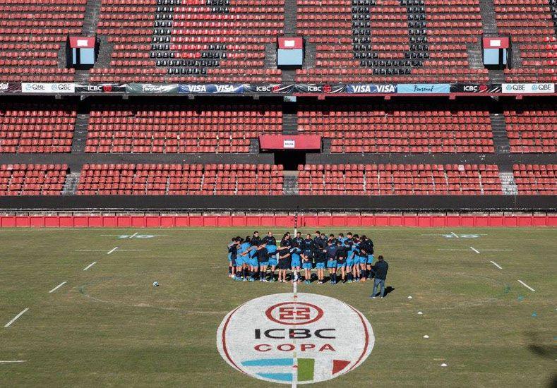 El seleccionado argentino de rugby realizó ayer el Captain's Run en el estadio Brigadier López.