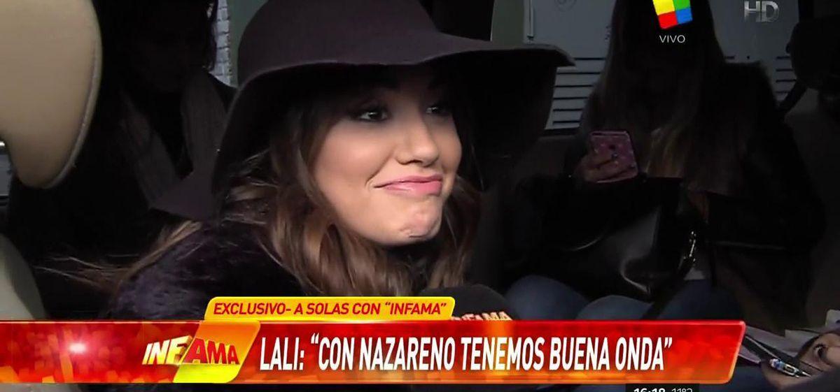 Lali está hasta las manos con Nazareno Casero: ¡Mirá su carita cuando habla de él!