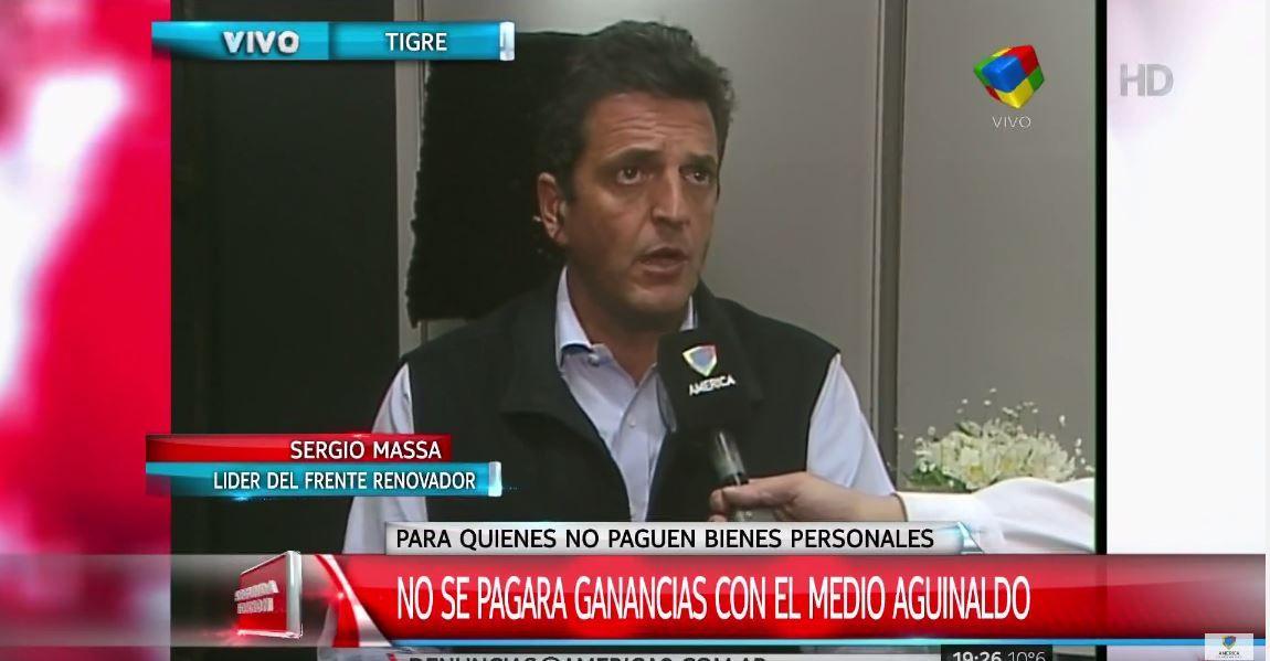 Por pedido del Frente Renovador, eximen al aguinaldo del pago de Ganancias