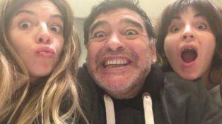 El reencuentro de Maradona con Dalma y Gianinna