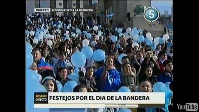 Sí se puede, la arenga de Macri a los chicos que realizaron la promesa de lealtad a la bandera