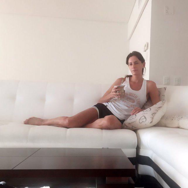Luciana Aymar, sexy hasta recién levantada